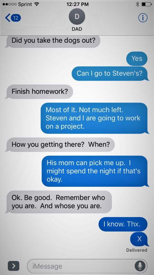 Dad Receives Coded Text Message From Son, Rushes To Help Him