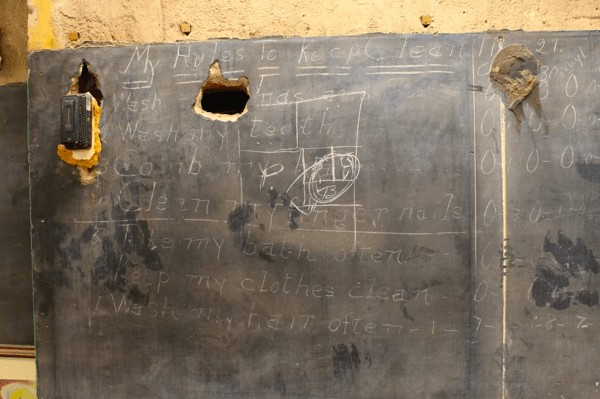 Construction Crew Finds Chalkboards From 1917 After Tearing Down Wall