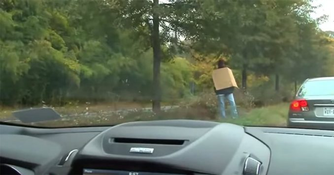 Cop Poses As Homeless Man To Catch People Texting And Driving