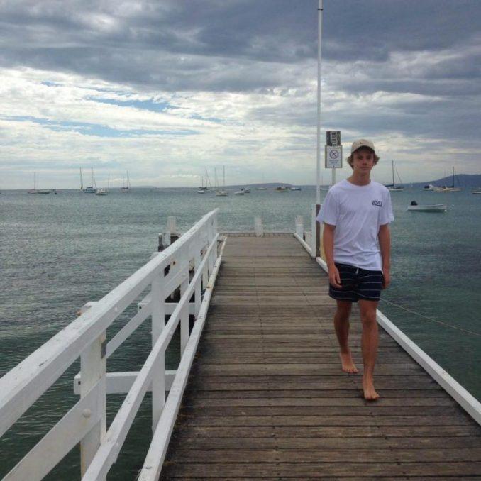 Sam Kanizay Dips Feet In Water, Horrified When He Looks Down