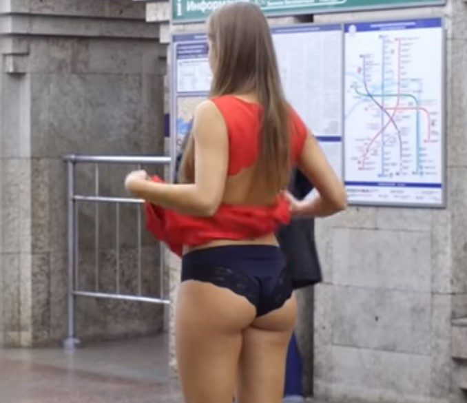 Anna Dovgalyuk Shows Her Panties In Public – Offers Odd Reason For Doing It
