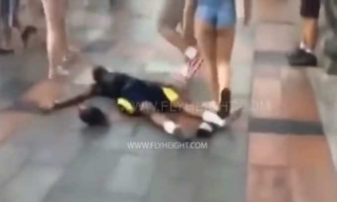 Man Grabs Woman's Butt, Then One Minute Later — BOOM!