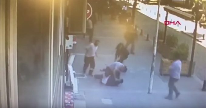 Emre Derebaşı Headbutts Man Who Beat His Wife In Broad Daylight