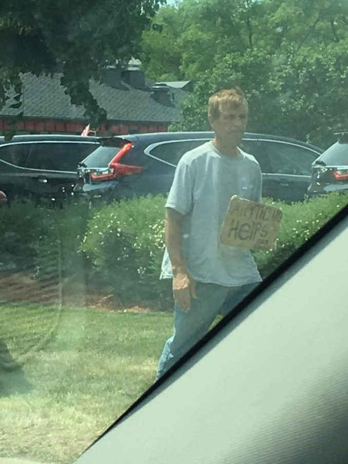 Brett Paulson Attacks Panhandler, You'll Understand Why When You Read The Sign