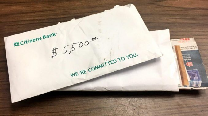 Woman Hands Police Citizens Bank envelope — Now They're Looking For Her