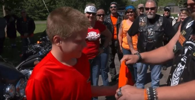 Bikers Storm Neighborhood Looking For Zane Omlid, Who Was Bullied
