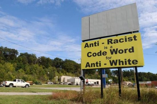 White Pride Billboard