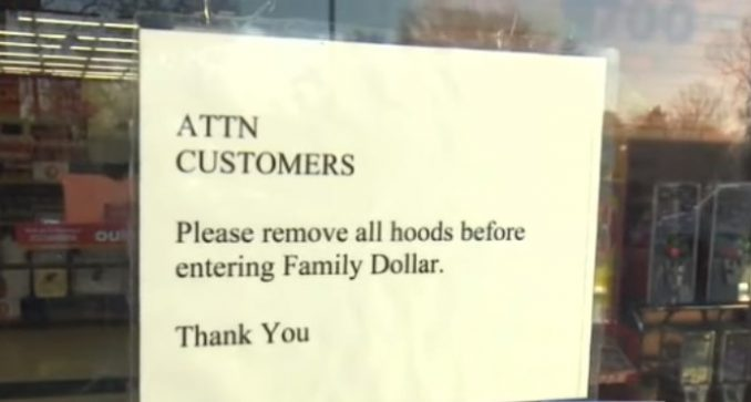 Family Dollar Puts Sign With Racist Request In Store Window