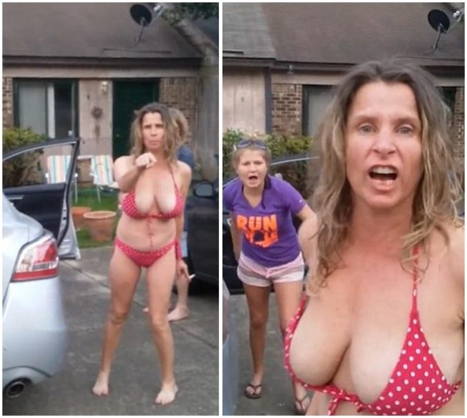 Bikini-clad Mom Gets Body Shamed By Neighbor, Unleashes Racist Tirade
