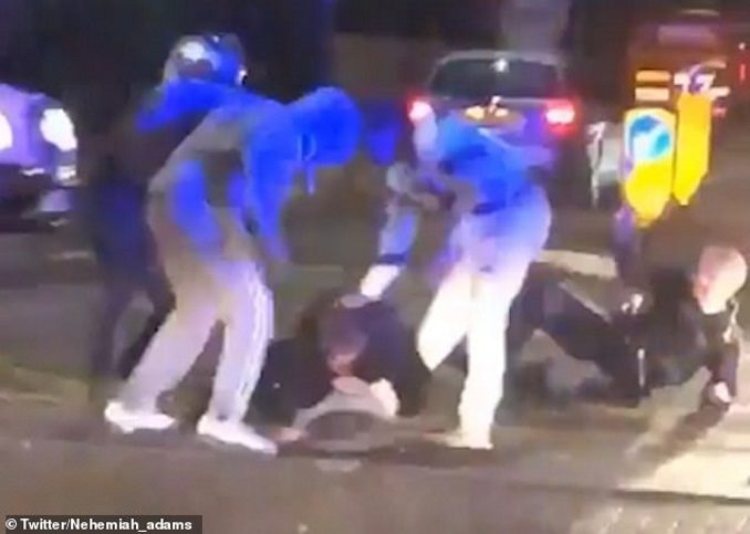 Female Cop Savagely Beaten, Watch The Reaction From Citizens