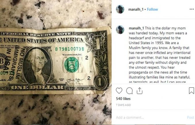 Atiya Hasan Wisconsin Muslim Family In Tears Victims Of Hate Message Stamped On One Dollar Bill
