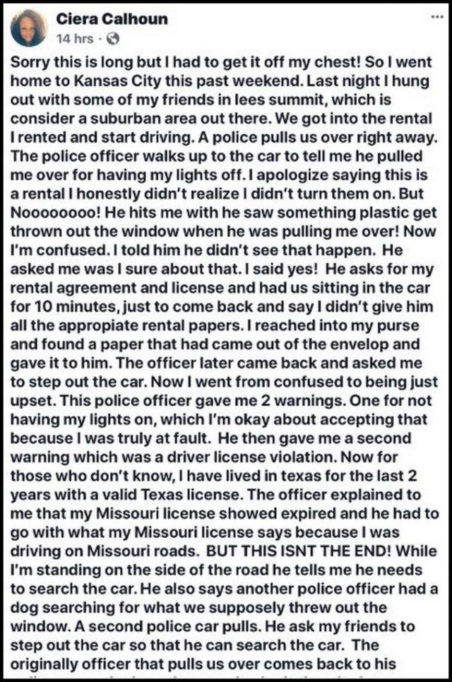 Ciera Calhoun Black Nurse Says Cop Racially Profiled Her Dashcam Footage Comes Out Changes Narrative