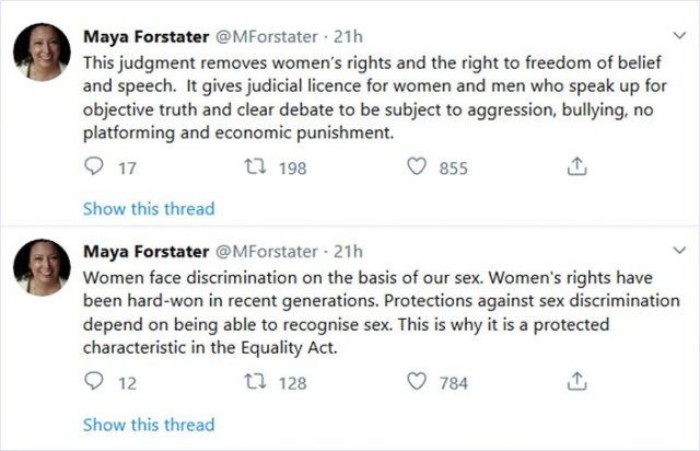 Maya Forstater Researcher Fired For Saying Men Cannot Be Women Judge Issues Final Verdict