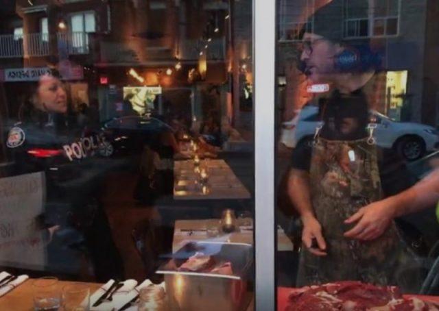 Michael Hunter Vegans Protesting Against Restaurant Are Horrified By Owner Revenge