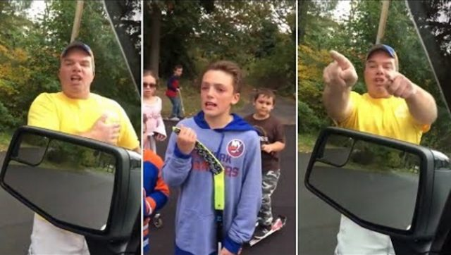 Dominick Lobifaro Man And His Young Son Harass Hunter In Tearful Profanity Laced Video