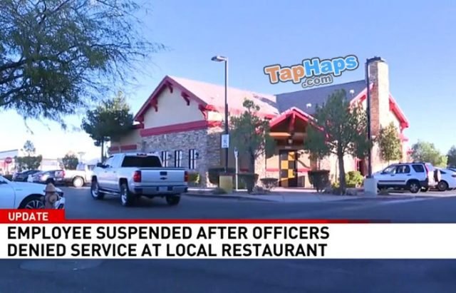 The Lodge at Cactus Uniformed Cops Denied Meal At Restaurant Bartender Gets In Trouble