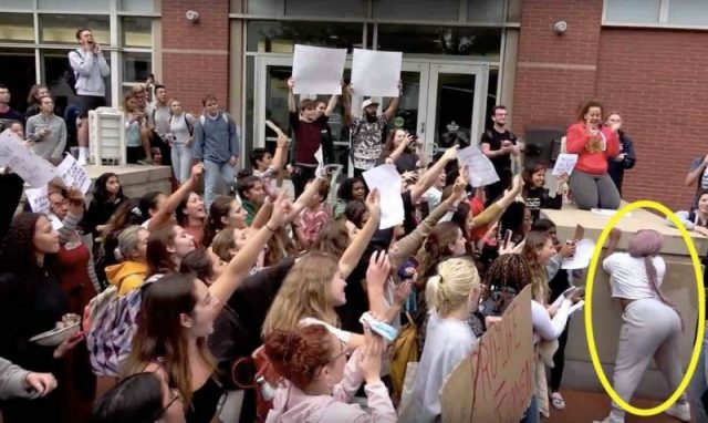 TFP Student Action Spitting Twerking Violent Pro Abortion Mob Confronts Pro Life Group