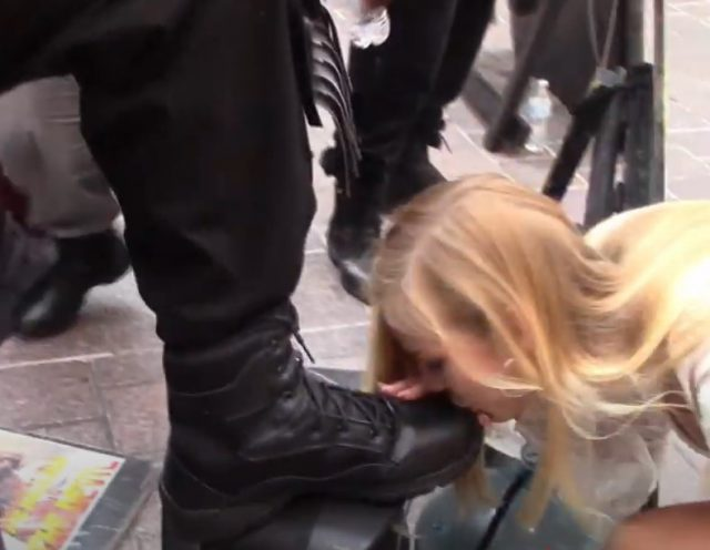 ISUPK Liberal Couple Kisses Boots of Black Activists to Prove How Sorry They Are for Being White